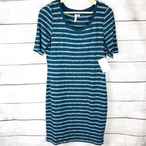 Kensie   Striped Fitted Knit Sweater Dress NWT